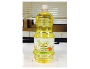น้ำมันถั่วเหลืองผ่านกรรมวิธี ตรา Queen บรรจุขวด ขนาด 1900 มิลลิลิตร