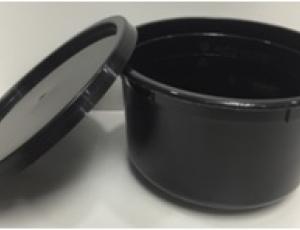 ชาม 15 oz.(425 ml.) สีดำ พร้อมฝา สีดำ