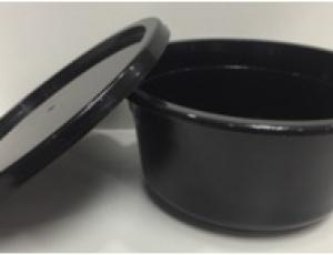 ชาม 17 oz.(680 ml.) สีดำ พร้อมฝา สีดำ