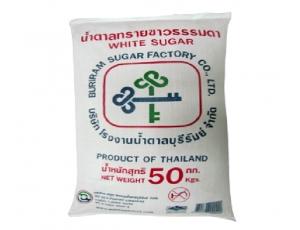 น้ำตาลทรายขาวบรรจุกระสอบ 50 กิโลกรัม