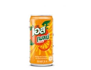 น้ำอัดลมเอสเพลย์ กลิ่นส้ม บรรจุกระป๋อง ขนาด 250 มิลลิลิตร