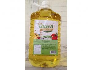 น้ำมันถั่วเหลืองผ่านกรรมวิธี ตรา Queen บรรจุขวด ขนาด 5000 มิลลิลิตร