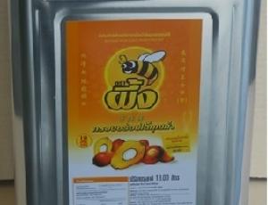 น้ำมันปาล์มโอเลอินจากเนื้อปาล์มผ่านกรรมวิธีตราผึ้ง ชนิดปี๊บ 18 ลิตร