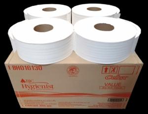 BH016130 กระดาษชำระม้วนใหญ่ บีเจซี ไฮจีนิสท์ แวลู 2 ชั้น 300 เมตร x 12 ม้วน 1 ม้วน (300 เมตร)