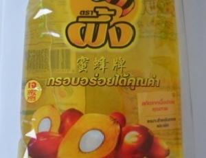 น้ำมันปาล์มโอเลอินจากเนื้อปาล์มผ่านกรรมวิธีตราผึ้ง ชนิดถุง LLDPE ขนาด 1 ลิตร