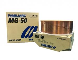 ลวดเชื่อมเปลือยใช้เชื่อมเหล็กกล้าละมุนด้วยอาร์กโดยมีก๊าซปกคลุม  FAMILIARC MG -50 เส้นผ่านศูนย์กลาง 1.2 มิลลิเมตร ขนาด 20 กิโลกรัม