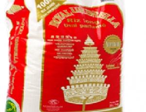 ข้าวหอมมะลิ100%บรรจุถุงตราฉัตร ขนาด 20 กิโลกรัม
